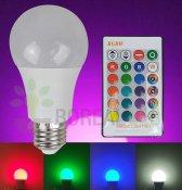 Imagem - Lâmpada LED Bulbo RGB Colorida E27 5W Controle 16 Cores cód: YTL-1178