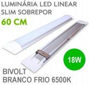 Imagem - Lâmpada LED Linear Tubular 18W 60cm Sobrepor Luz Branco Frio 6500K cód: LINEAR-60CM-BF