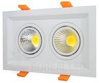 Imagem - Spot LED Recuado Duplo Retangular 2X10W Branco Quente cód: SPOTDP2X10WBQ