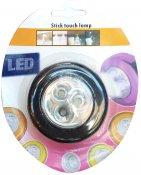 Imagem - Luminária de toque LED parede teto branca sem fio pilha cód: LEDTOQUE