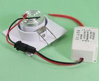 Mini Spot LED COB Quadrado 3W 6X6cm Direcionável Branco Quente A.XU
