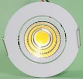 Mini Spot LED COB Redondo 3W 6X6cm Direcionável Branco Quente A.XU