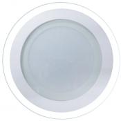 Imagem - Plafon LED Embutir 12W Redondo 16cm Acabamento Vidro Branco Quente 3K cód: P-EMB-12W-RD-BQ-VIDRO