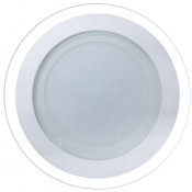 Imagem - Plafon LED Embutir 18W Redondo 20cm Acabamento Vidro Branco Quente 3K cód: P-EMB-18W-RD-BQ-VIDRO