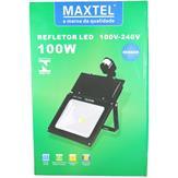 Refletor Led 100W Branco Frio Sensor de Presença IP66