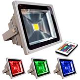 Imagem - Refletor LED Holofote 30W RGB Colorido Controle Remoto 16 Cores Bivolt CTB cód: BLRC-30WRGB