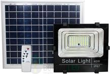 Imagem - Refletor LED SMD Solar 40W IP67 6000K 120º Controle Remoto + Placa Fotovoltaica cód: ROY-SOLAR-40W
