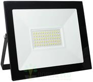 Imagem - Refletor Micro LED SMD Slim 50W IP66 Fundo Branco Acabamento Preto cód: ROY-50W-MICROBF