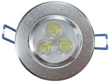 Spot de Embutir LED 3W Redondo Borda Prateada Bivolt