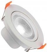 Imagem - Spot Downlight LED 7W Embutir Redondo Direcionável Branco Frio cód: BLDS-7CS-BF-R