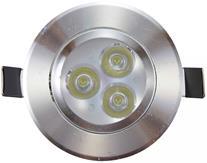 Imagem - Spot LED 3W Embutir Redondo Direcionável Prateado Prata Branco Frio cód: BLDS-3A