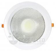 Imagem - Spot LED COB Downlight 30W Embutir Redondo 22cm cód: TD3002DBN