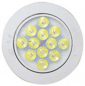 Imagem - Spot LED Embutir Redondo 12W Luz Branca 6500K Bivolt Direcionável cód: B.THD-12W-Y-W