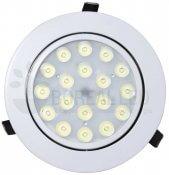 Imagem - Spot LED Embutir Redondo 18W Luz Branca 6500K Bivolt Direcionável cód: BLDS-18B(REDONDO)BF