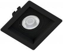 Imagem - Spot/Luminária Embutir Recuado Quadrado Preto Dicroica MR16 GU10 10X10cm Orbital cód: SE-330-1036