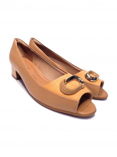 Sapato Peep Toe Feminino Salto Médio Picadilly