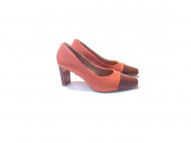 Sapato Scarpin Usaflex Couro AD3503
