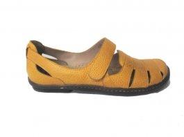 Imagem - Sapato Sapatilha Em Couro Feminina Retrô Velcro Jgean AM0136 cód: 019640018