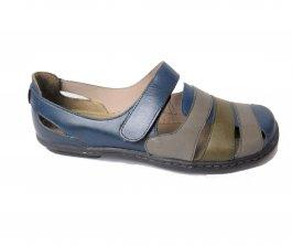 Imagem - Sapato Sapatilha Em Couro Feminina Retrô Velcro Jgean AM0136 cód: 019640062