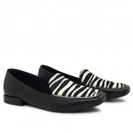 Imagem - Sapato Slipper Feminino Zebra  Couro Lançamento Usaflex AF1301 cód: 019677002