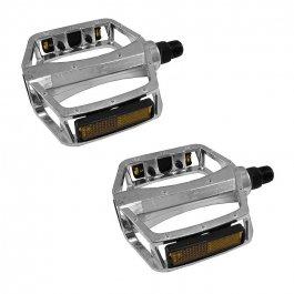 Imagem - Pedal Plataforma Alumínio Rosca Inglês 9/16 (Prata) - Hp cód: 12553