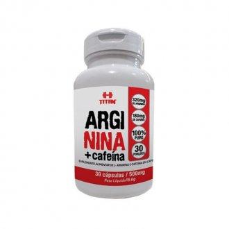 Imagem - Arginina + Cafeína (30caps) - Titan cód: 1230
