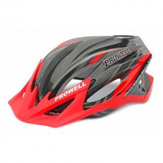 Imagem - Capacete Ciclismo F44 (Preto/Vermelho) - Prowell cód: 766