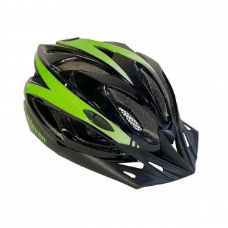 Imagem - Capacete Ciclismo (Preto/Verde Neon) - Elleven cód: 1129