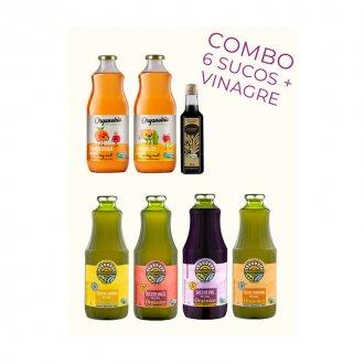 Imagem - Combo com 6 Sucos Orgânicos + Vinagre Balsâmico Envelhecido 250ml - Econatura cód: 1100