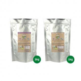 Imagem - Combo Farinha de Casca (1kg) + Farinha de Semente de Uva Orgânica (1kg) - Organovita cód: 1097