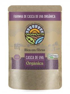 Imagem - Farinha de Casca de Uva Orgânica (100g) - Organovita cód: 385