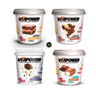 Imagem - Kit 4 Pastas de Amendoim (1kg) - Vitapower cód: 822
