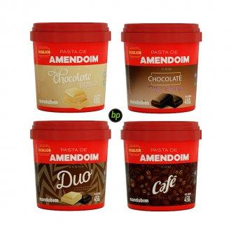 Imagem - Kit 4 Pastas de Amendoim Desejos (450g) - Mandubim cód: 714
