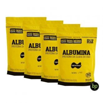 Imagem - Kit 4x Albumina Pura Sem Sabor (500g) - Naturovos | TOTAL: 2kg cód: 1145