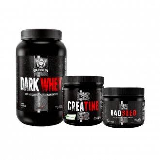 Imagem - Kit Dark Whey (1,2kg) + Creapure (200g) + Badseed (150g) - Integralmédica cód: 959
