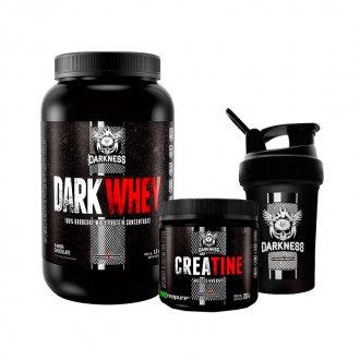 Imagem - Kit Dark Whey (1,2kg) + Creatina Creapure Darkness (200g) - Integralmédica | GANHE BRINDE cód: 800