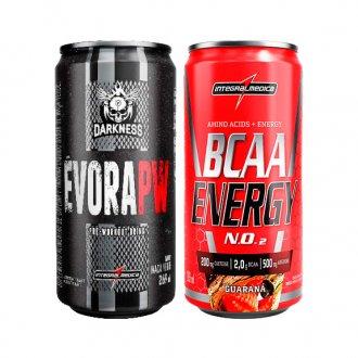 Imagem - Kit Évora PW Darkness Drink (269ml) + BCAA Energy Drink (269ml) - Integralmédica cód: 810