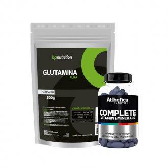 Imagem - Kit Imunidade Glutamina BP (500g) + Complete Multi-Vit (100tabs) - Atlhetica cód: 842