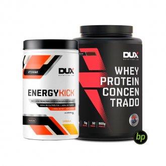Imagem - Kit Whey Concentrado (900g) + Energy Kick (1kg) - DUX Nutrition cód: 998