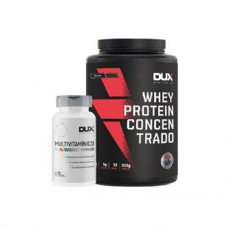 Imagem - Kit Whey Protein Concentrado (900g) + Multivitamínico (90caps) - DUX Nutrition cód: 1094