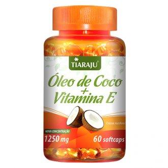 Imagem - Óleo de Coco com Vit E 1000mg (60caps) - Tiaraju cód: 353