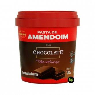 Imagem - Pasta de Amendoim com Chocolate Amargo (1,02kg) - Mandubim cód: 337