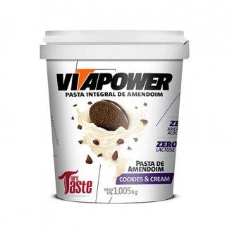 Imagem - Pasta de Amendoim Cookies Cream (1kg) - Vitapower cód: 580
