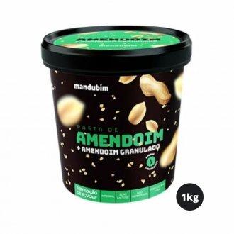 Imagem - Pasta de Amendoim Integral com Granulado (1,02kg) - Mandubim cód: 333