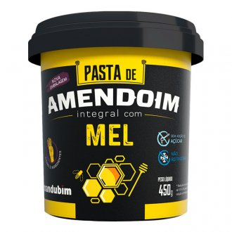 Imagem - Pasta de Amendoim Integral com Mel (450g) - Mandubim cód: 327