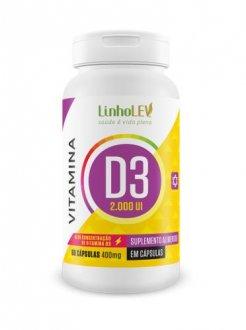 Imagem - Vitamina D3 2000UI (60caps) - Linholev cód: 1094