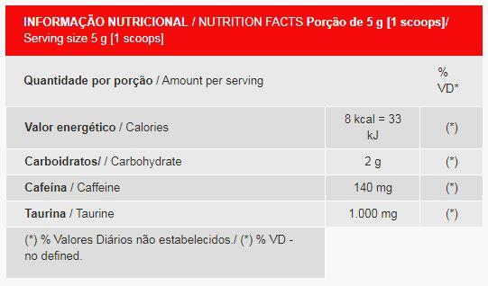 Tabela nutricional Badseed Darkness