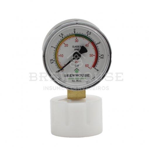 Manômetro Controlador de Pressão com Adaptador - Twist-off