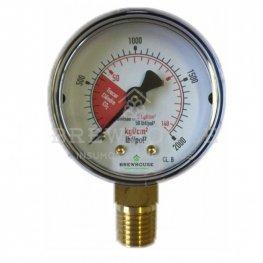 Imagem - Manômetro alta pressão 0-140 kg/cm cód: 000626