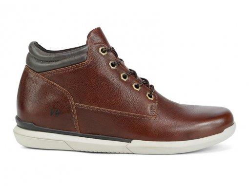 Bota Coturno West Coast Sneaker Dickinson Couro Café 129502